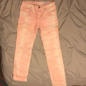 GapKids size 12 super skinny jeans(pink and white)